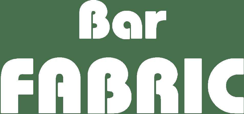 BAR FABRIC LOGO WHITE flat